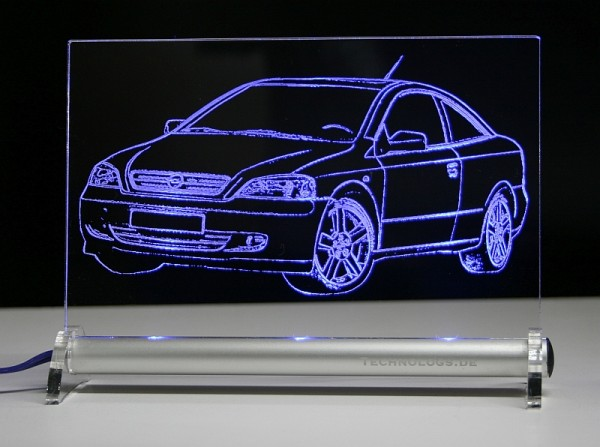 Opel Astra G Coupe LED Leuchtschild