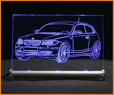 BMW 1er E87 Facelift LED Leuchtschild