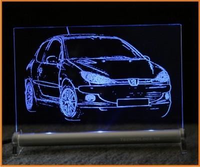 Peugeot 206 LED Leuchtschild