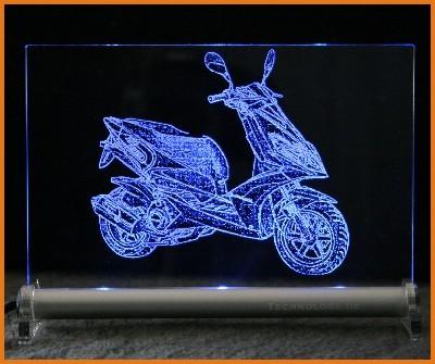 Roller - Scooter LED Leuchtschild