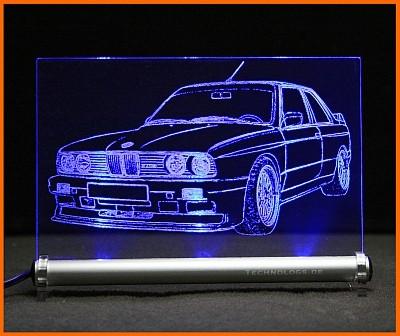 BMW 3 E30 M3 LED Leuchtschild