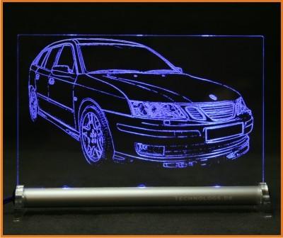 Saab 9-3 Sport Combi LED Leuchtschild