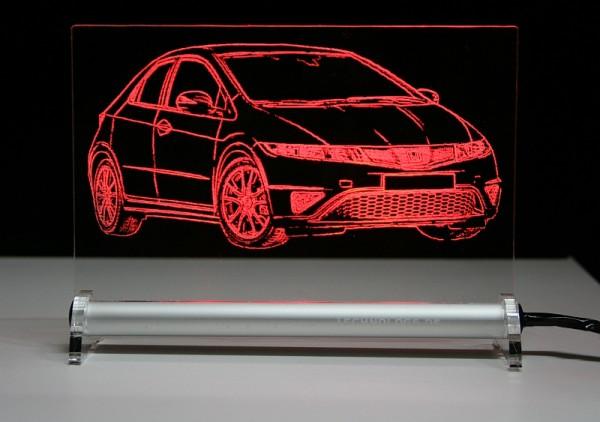 Honda Civic Sport 5-Türer LED Leuchtschild