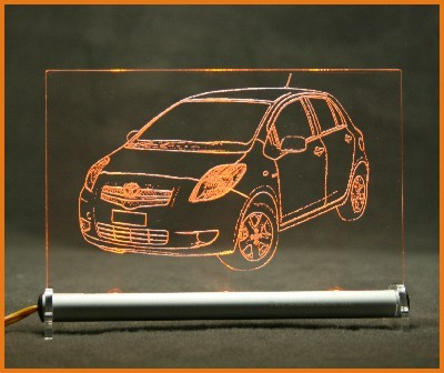 Toyota Yaris LED Leuchtschild