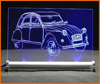 Citroën 2CV Ente deux chevaux LED Leuchtschild