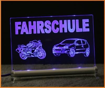 Fahrschule Logo LED Leuchtschild