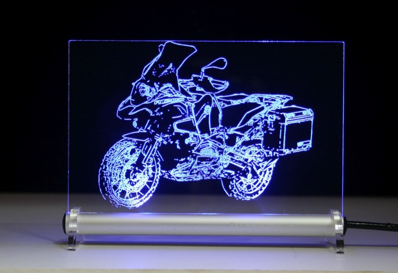led leuchtschild mit gravur bmw r 1200 gs adventure 2014. Black Bedroom Furniture Sets. Home Design Ideas