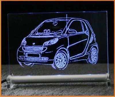 Smart Fortwo LED Leuchtschild