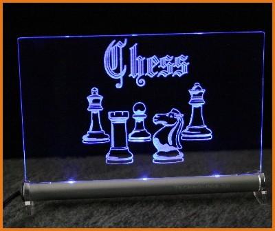 Schach LED Leuchtschild