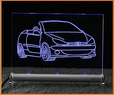 Peugeot 206 CC LED Leuchtschild