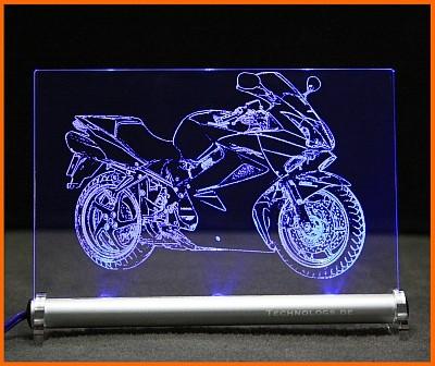 Honda VFR 800 LED Leuchtschild