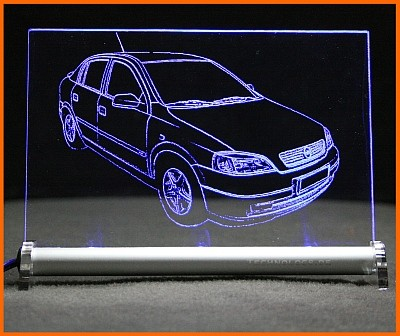 Opel Astra G limo LED Leuchtschild