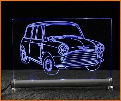 Mini Cooper LED Leuchtschild