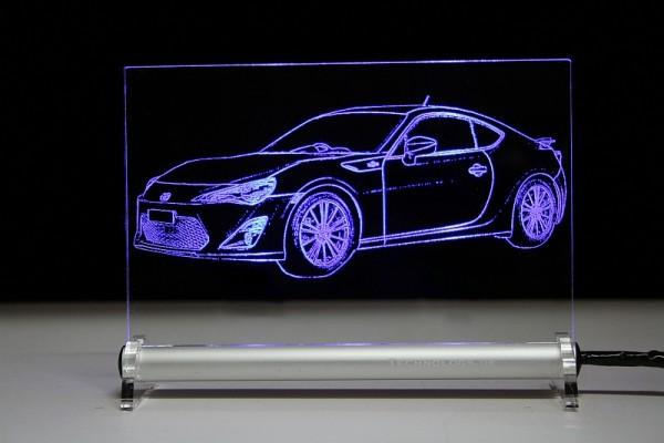 Toyota GT86 LED Leuchtschild
