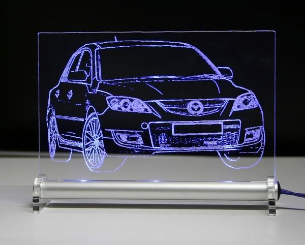 Mazda 3 MPS LED Leuchtschild
