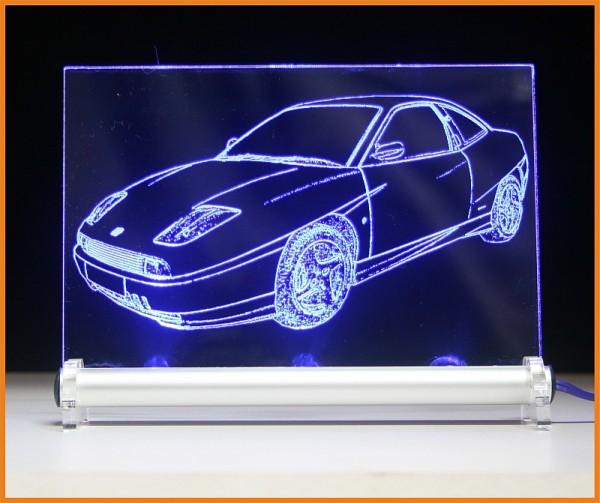Fiat Coupe LED Leuchtschild