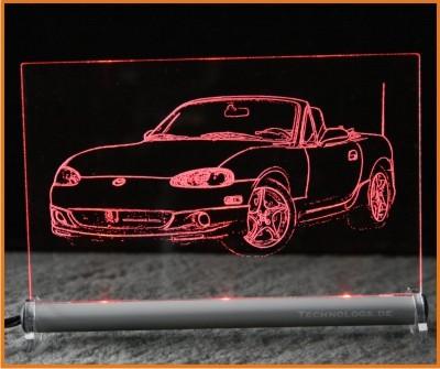 Mazda MX5 LED Leuchtschild