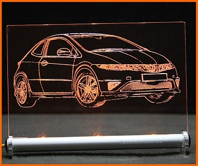 Honda Civic Type S LED Leuchtschild