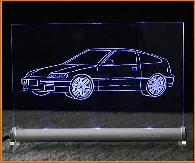 Honda CRX ED9 LED Leuchtschild
