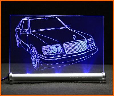 Mercedes E W124 Limousine LED Leuchtschild
