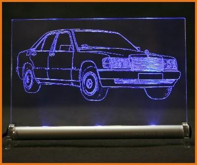 Mercedes 190 w201 LED Leuchtschild