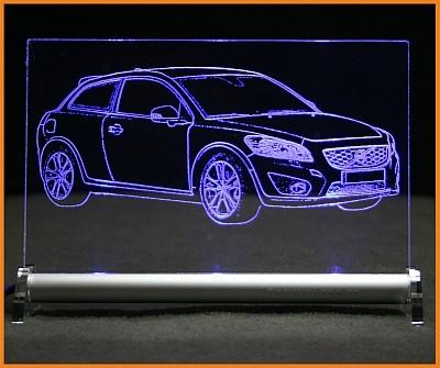 Volvo C30 LED Leuchtschild