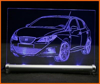 Seat Ibiza 6J LED Leuchtschild