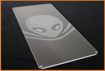Acrylglas Schild / Foto-Gravur individuell ohne Beleuchtung