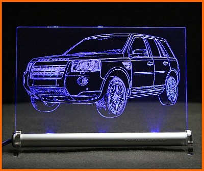 Land Rover Freelander 2 LED Leuchtschild