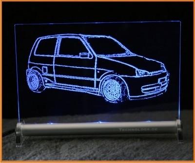 Fiat Cinquecento LED Leuchtschild
