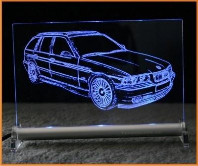 BMW 3er E36 touring Alpina LED Leuchtschild