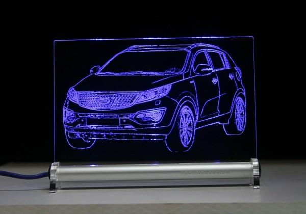 Kia Sportage SL LED Leuchtschild