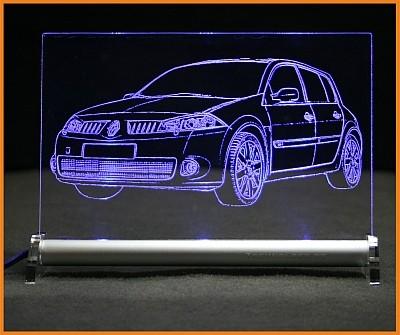 Renault Megane Sport 2RS LED Leuchtschild