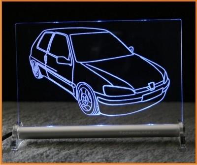 Peugeot 106 LED Leuchtschild