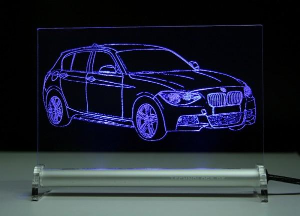 BMW 1 F20 5-türer LED Leuchtschild