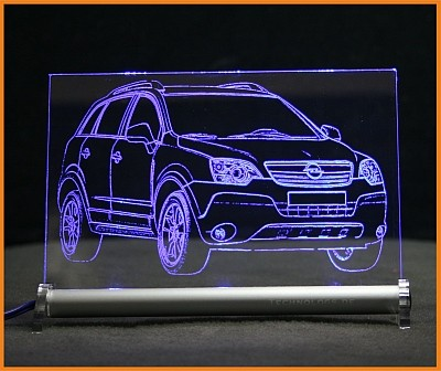 Opel Antara LED Leuchtschild