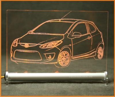Mazda 2 LED Leuchtschild