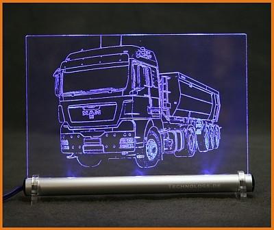MAN Kipper TGX LED Leuchtschild