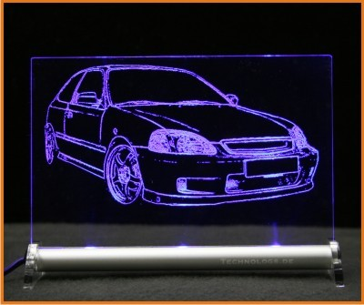 Honda Civic EJ9 EK9 LED Leuchtschild