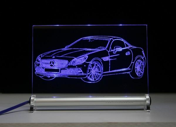 Mercedes SLK R 172 LED Leuchtschild
