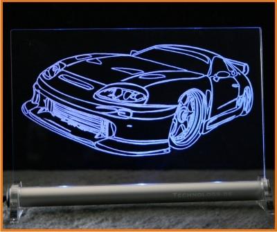 Toyota Supra MK IV sport LED Leuchtschild