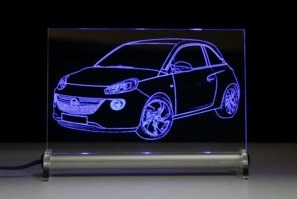Opel Adam LED Leuchtschild