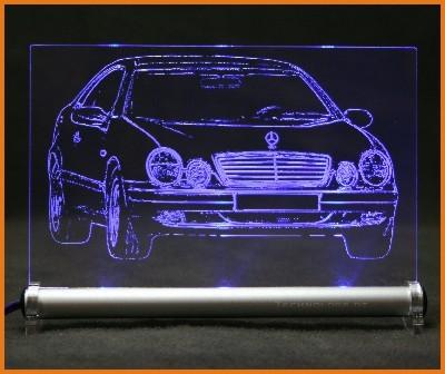 Mercedes CLK W208 LED Leuchtschild