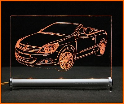 Opel Astra H Twin Top LED Leuchtschild