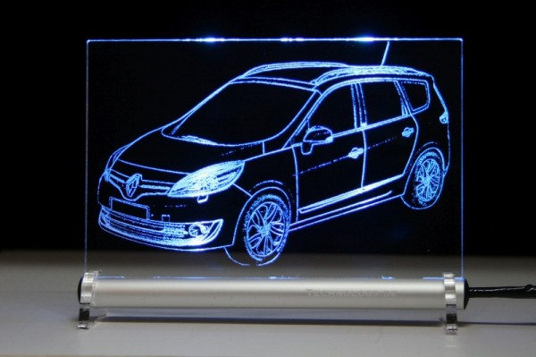 Renault Grand Scenic LED Leuchtschild