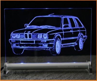led leuchtschild mit gravur bmw 3 e30 touring. Black Bedroom Furniture Sets. Home Design Ideas
