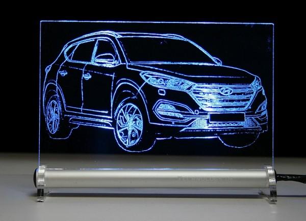 Hyundai Tucson TL LED Leuchtschild