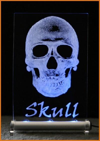 Skull LED Leuchtschild