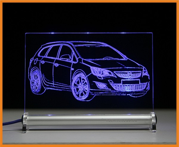 Opel Astra J Sport Tourer LED Leuchtschild
