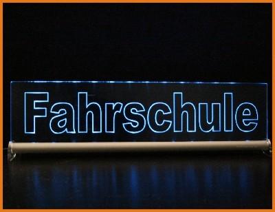 Fahrschule / oder ein Text Ihrer Wahl LED Leuchtschild